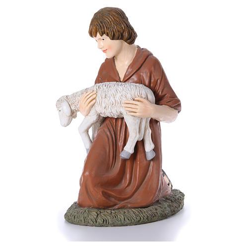 Statua pastore in ginocchio Martino Landi per presepe 120 cm 2