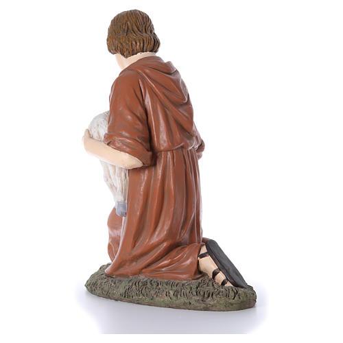 Statua pastore in ginocchio Martino Landi per presepe 120 cm 3