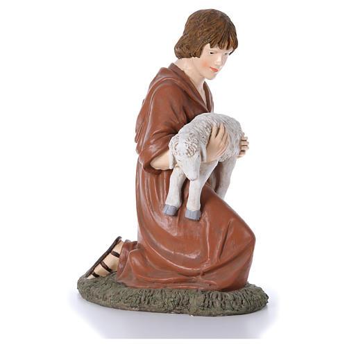 Statua pastore in ginocchio Martino Landi per presepe 120 cm 4