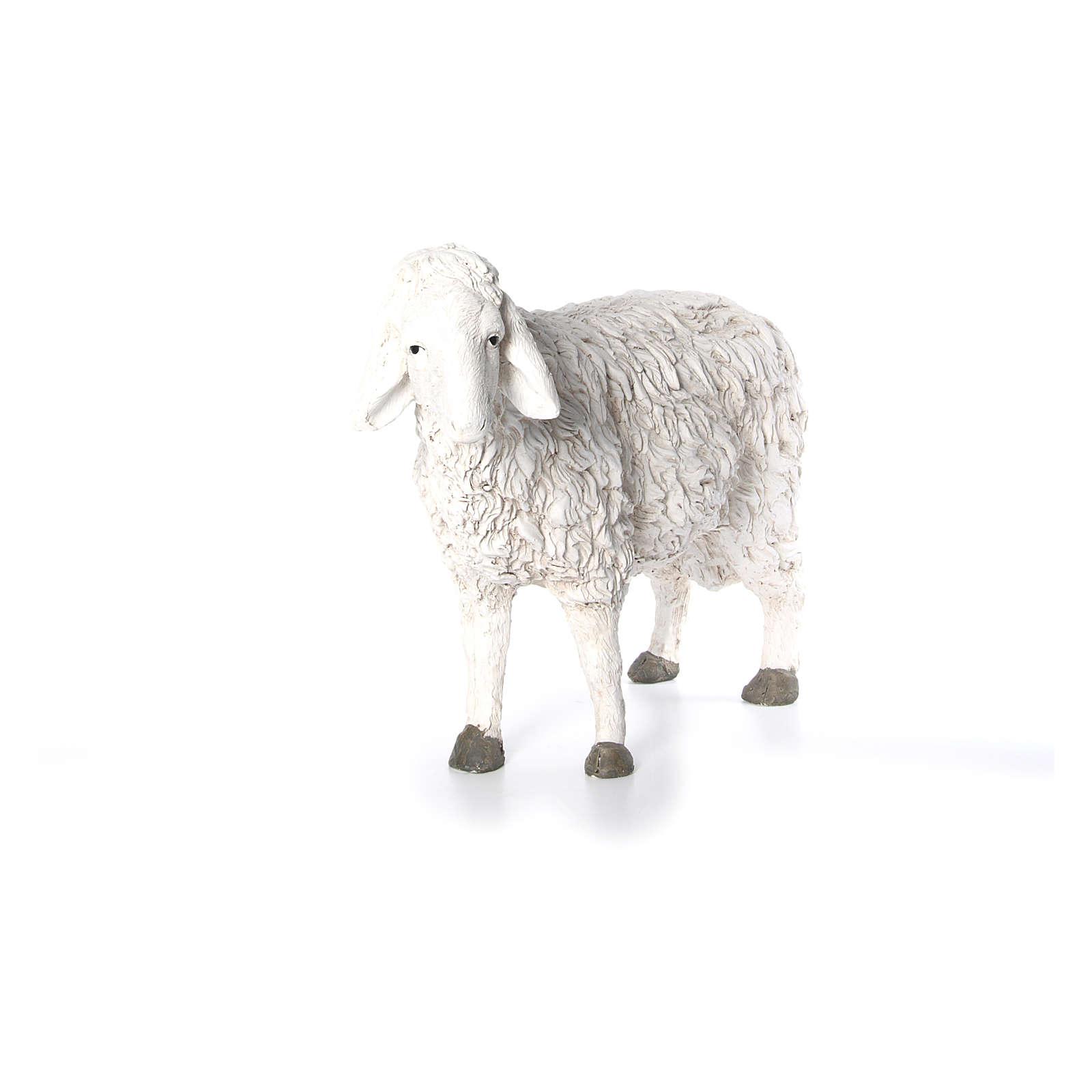 Estatua oveja con cabeza alta Martino Landi para belén 120 cm 3