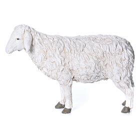 Estatua oveja con cabeza alta Martino Landi para belén 120 cm s1