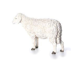 Estatua oveja con cabeza alta Martino Landi para belén 120 cm s2
