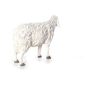 Estatua oveja con cabeza alta Martino Landi para belén 120 cm s3