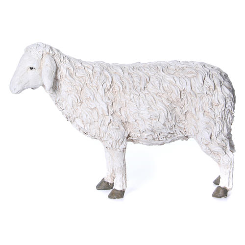 Estatua oveja con cabeza alta Martino Landi para belén 120 cm 1