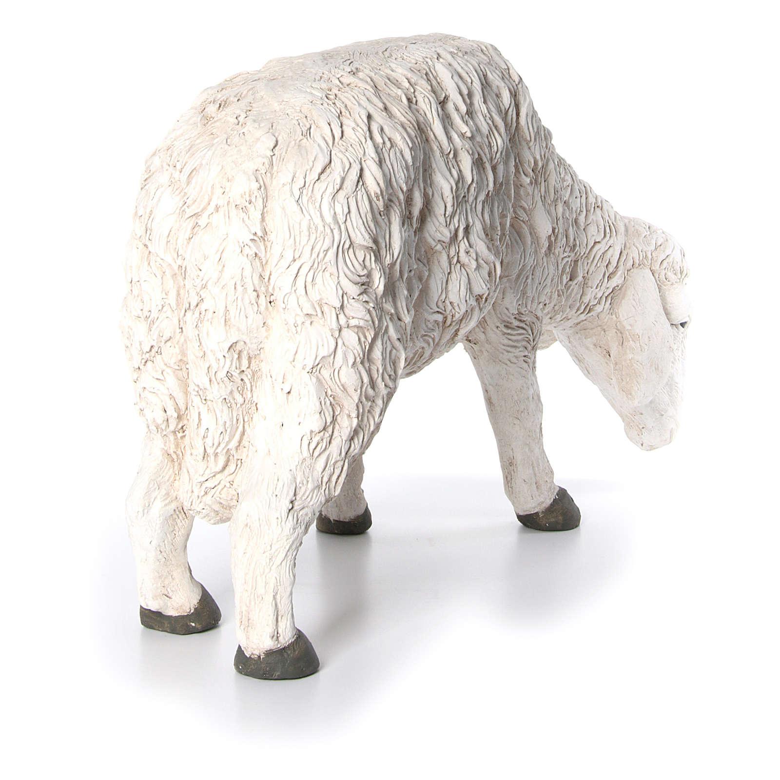 Statua pecora che bruca Martino Landi per presepe 120 cm 3