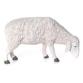 Statua pecora che bruca Martino Landi per presepe 120 cm s1