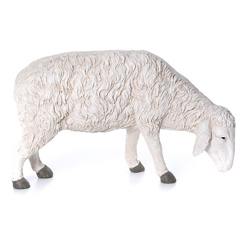Statua pecora che bruca Martino Landi per presepe 120 cm 1