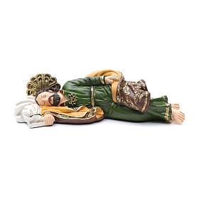Statua San Giuseppe dormiente per presepe 40 cm s1