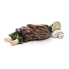 Statua San Giuseppe dormiente per presepe 40 cm s3