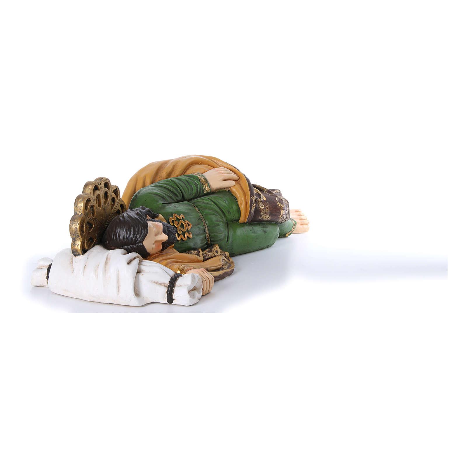 Statua San Giuseppe dormiente per presepe 100 cm 3