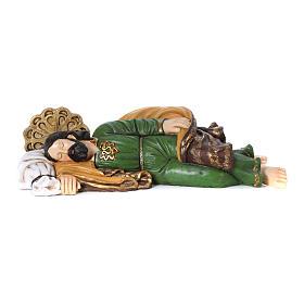 Statua San Giuseppe dormiente per presepe 100 cm s1