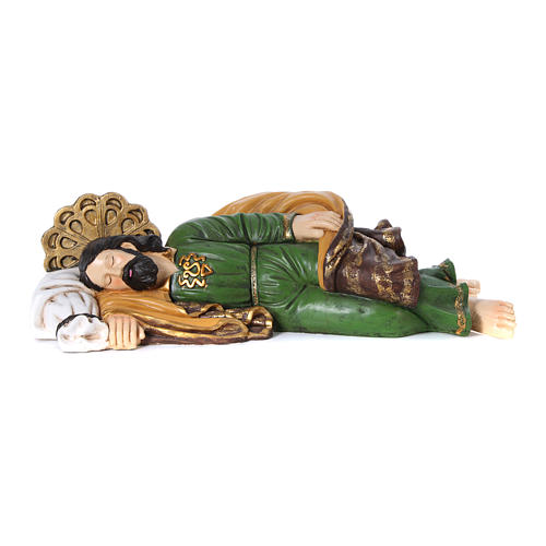 Statua San Giuseppe dormiente per presepe 100 cm 1