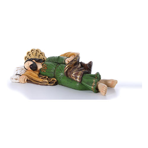 Statua San Giuseppe dormiente per presepe 100 cm 2