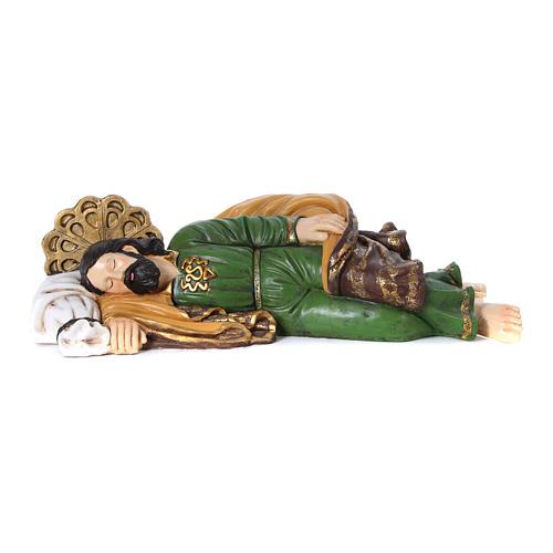 Imagem São José dormindo para presépio 100 cm 1