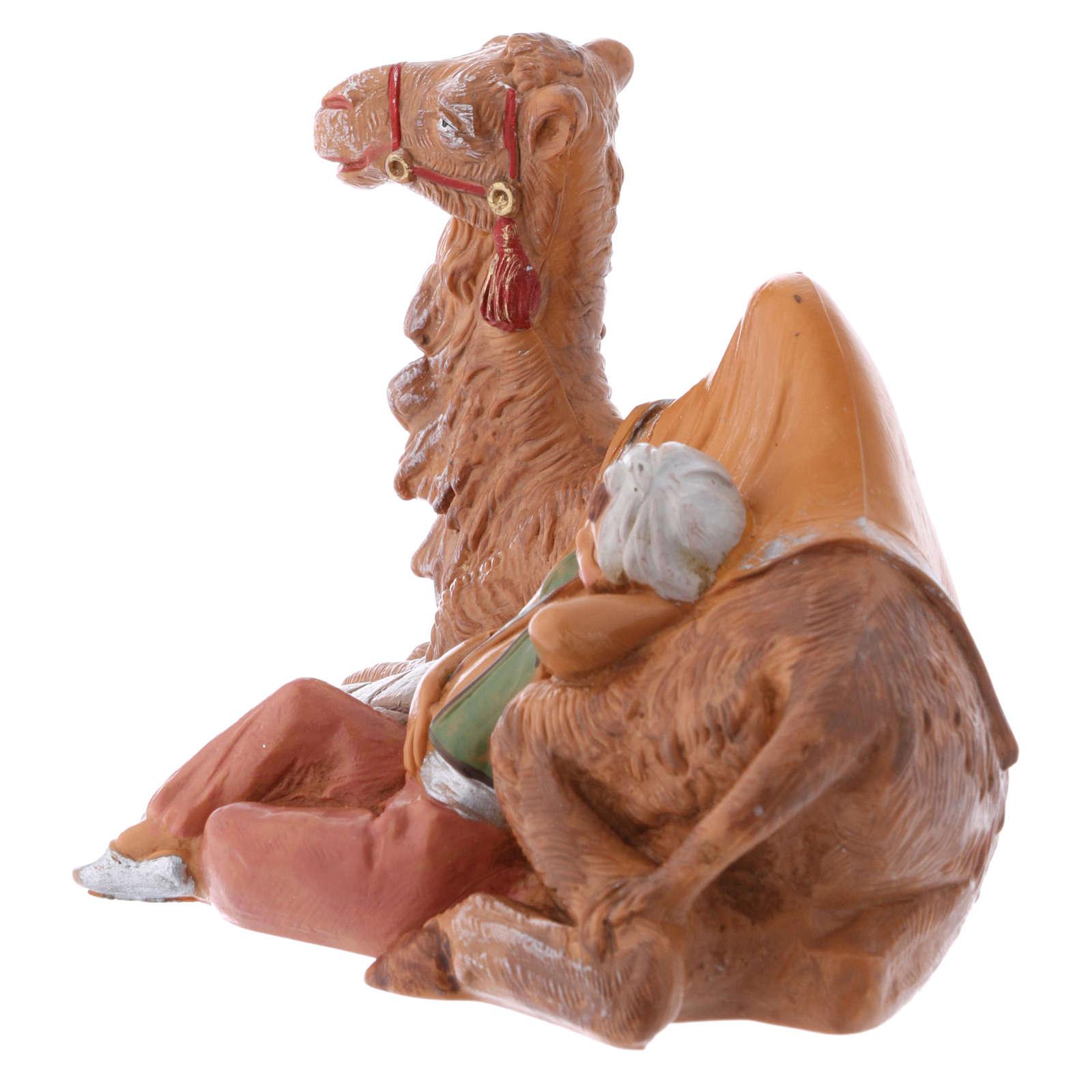 Enfant avec chameau Fontanini 12 cm 3