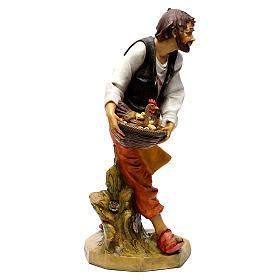 Pasterz z kurami Fontanini 65 cm s8