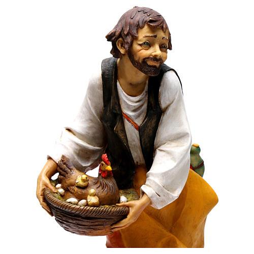 Pasterz z kurami Fontanini 65 cm 2
