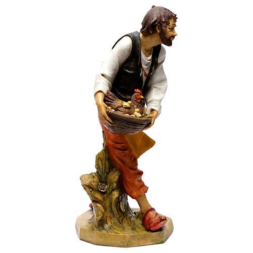 Pasterz z kurami Fontanini 65 cm 3