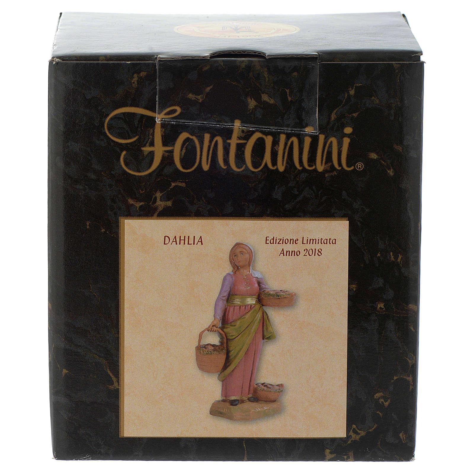 Dahlia con cestos 12 cm Fontanini edición limitada año 2018 3