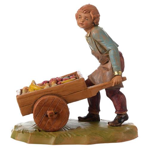 Niño con carrito 12 cm Fontanini 1