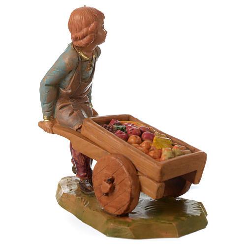 Niño con carrito 12 cm Fontanini 3