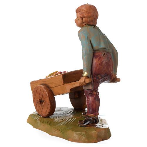 Niño con carrito 12 cm Fontanini 4