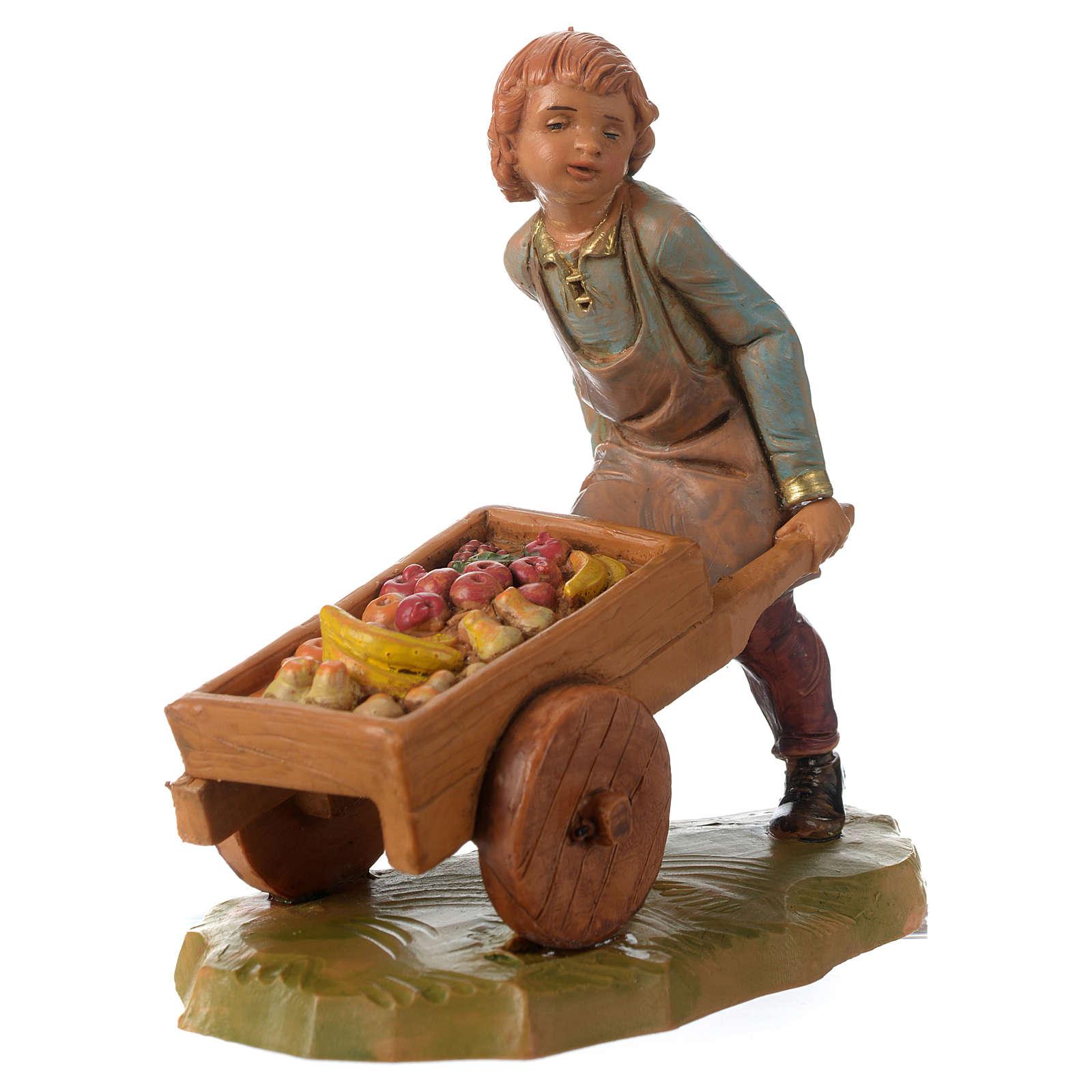 Bimbo con carretto 12 cm Fontanini 3