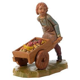 Bimbo con carretto 12 cm Fontanini s2