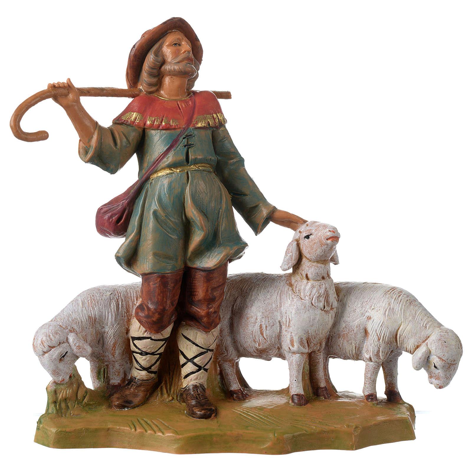 Berger avec troupeau 12 cm Fontanini 3
