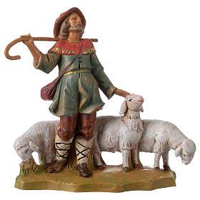 Santons crèche: Berger avec troupeau 12 cm Fontanini