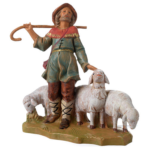 Berger avec troupeau 12 cm Fontanini 2
