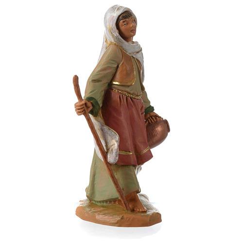 Chica con bastón y ánfora 12 cm Fontanini 2
