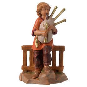 Jeune joueur de cornemuse 12 cm Fontanini s1