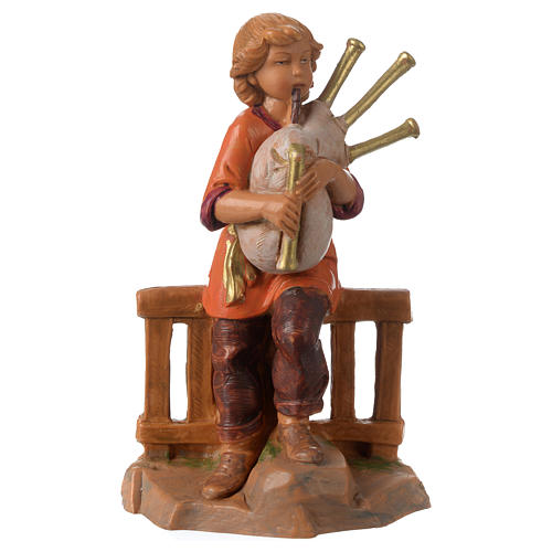 Jeune joueur de cornemuse 12 cm Fontanini 1