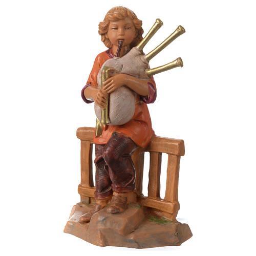 Jeune joueur de cornemuse 12 cm Fontanini 2