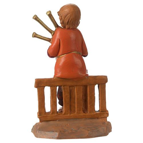 Jeune joueur de cornemuse 12 cm Fontanini 4