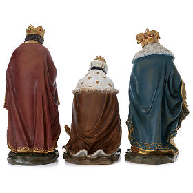 Tre Re Magi resina presepe 60 cm s6