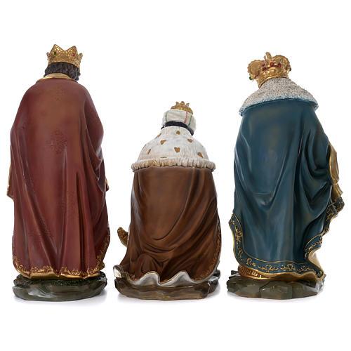 Tre Re Magi resina presepe 60 cm 6