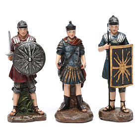 Soldati romani in resina 3 pz per presepe da 13 cm s1