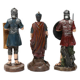 Soldati romani in resina 3 pz per presepe da 13 cm s3
