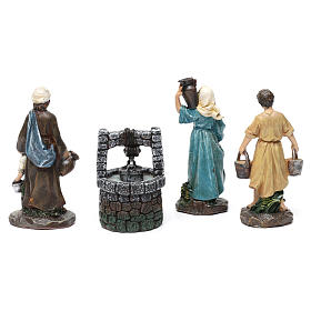 Pastores con pozo de resina 3 piezas para belén de 13 cm s3