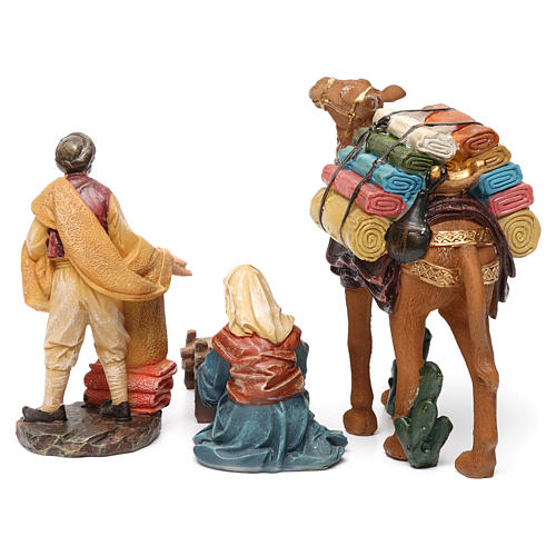 Cloth sellers in resin (2 pieces) for Nativity Scene 13 cm 3