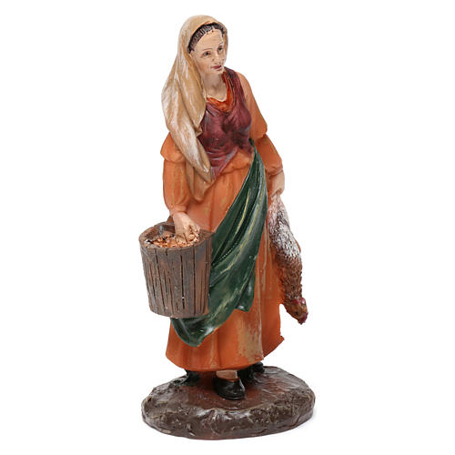 Shepherdesses in resin with animals (2 pieces) for Nativity Scene 13 cm 2