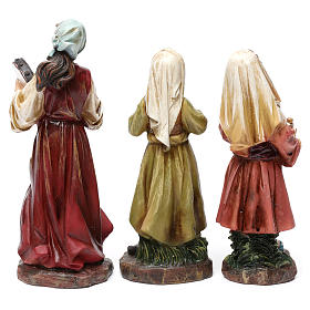 Musicians in resin (3 pieces) for Nativity Scene 13 cm s3
