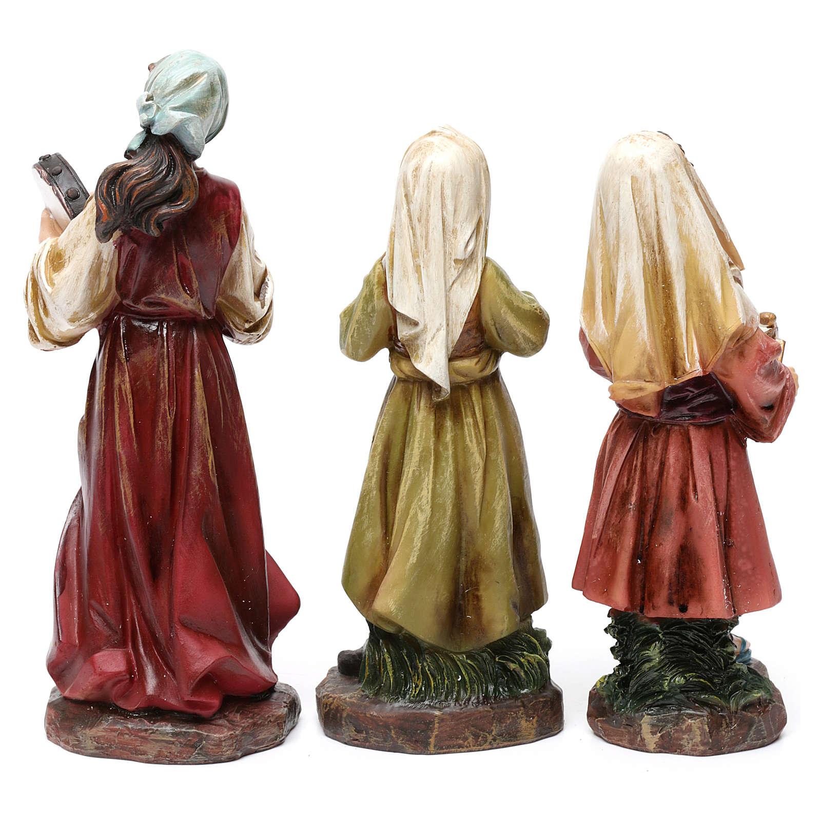 Statue suonatori 3 pz resina per presepe 20 cm 3