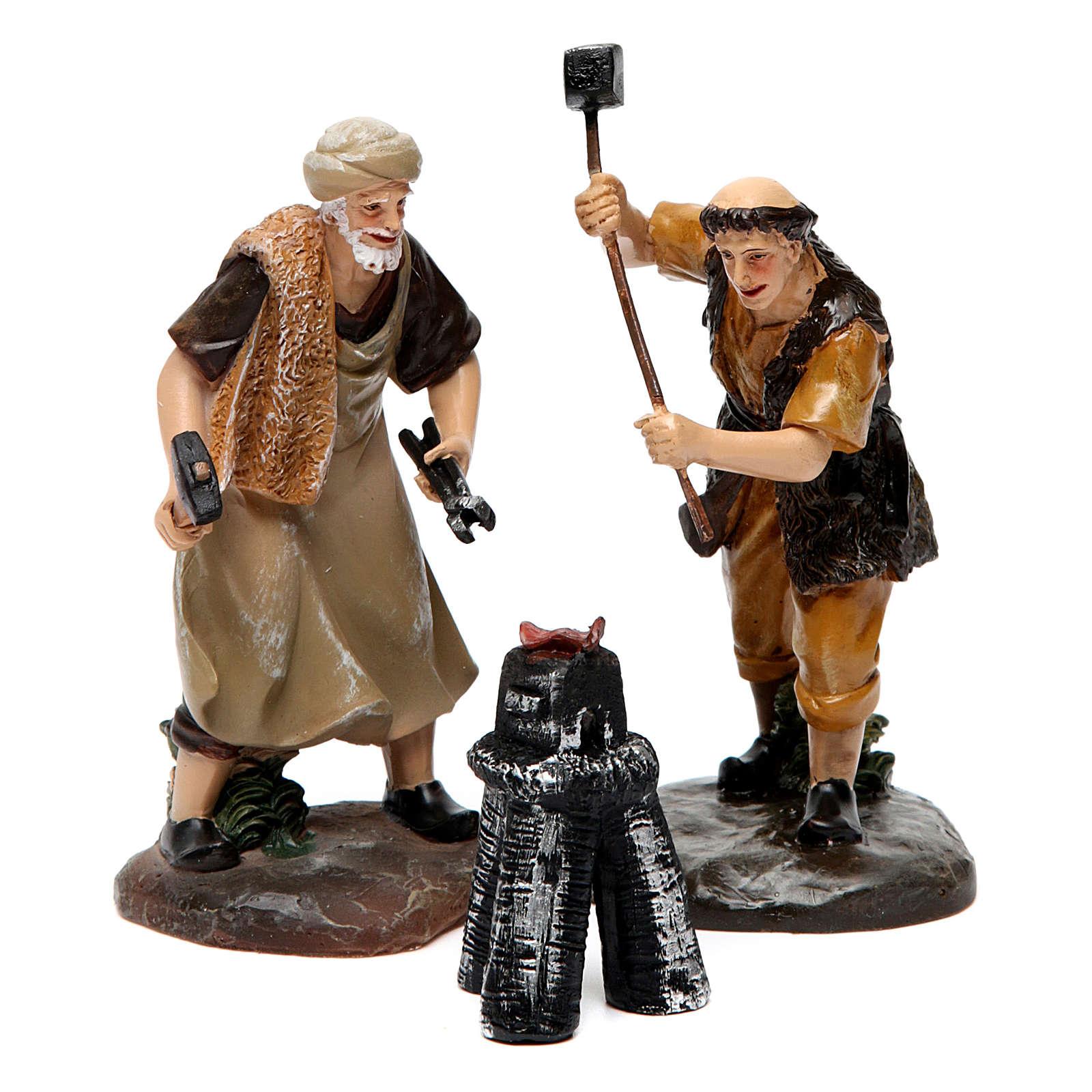 Blacksmiths with smithy 13 cm 3 pieces 3
