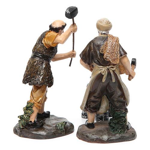 Blacksmiths with smithy 13 cm 3 pieces 4