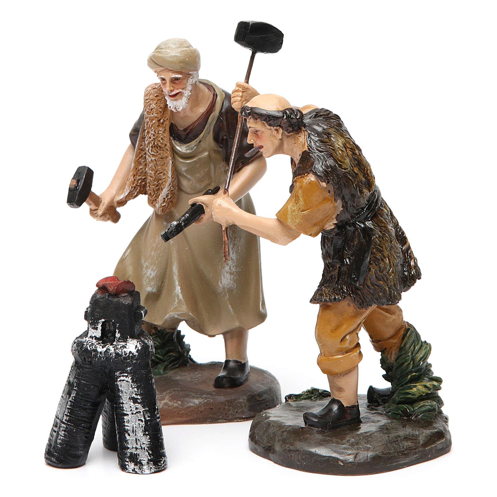 Blacksmiths with forge 13 cm 3 pcs 3