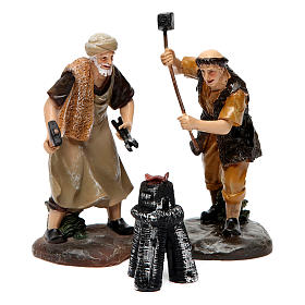 Blacksmiths with forge 13 cm 3 pcs s1