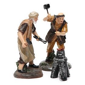 Blacksmiths with forge 13 cm 3 pcs s3